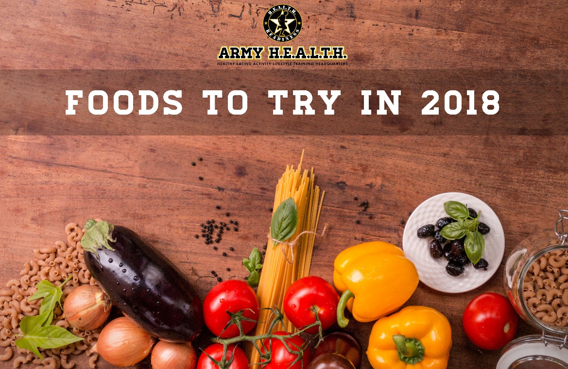 Foods to try in 2018