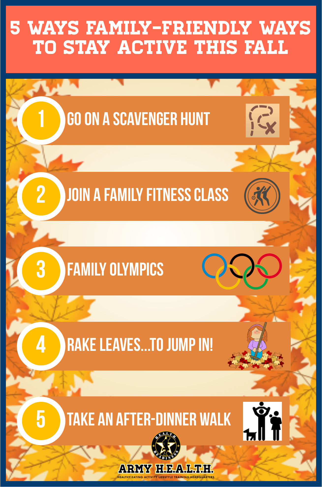5 Ways Family-Friendly Ways to Stay Active this Fall